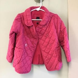 Baby Gap 4T Girls Pink Quilted Jacket coat button